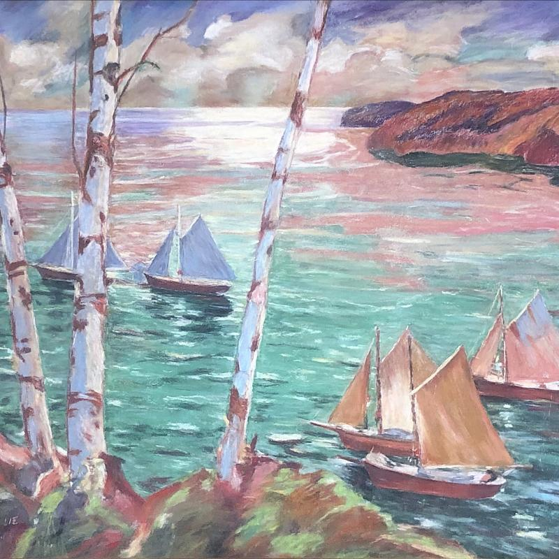 Sailboats in a Harbor
