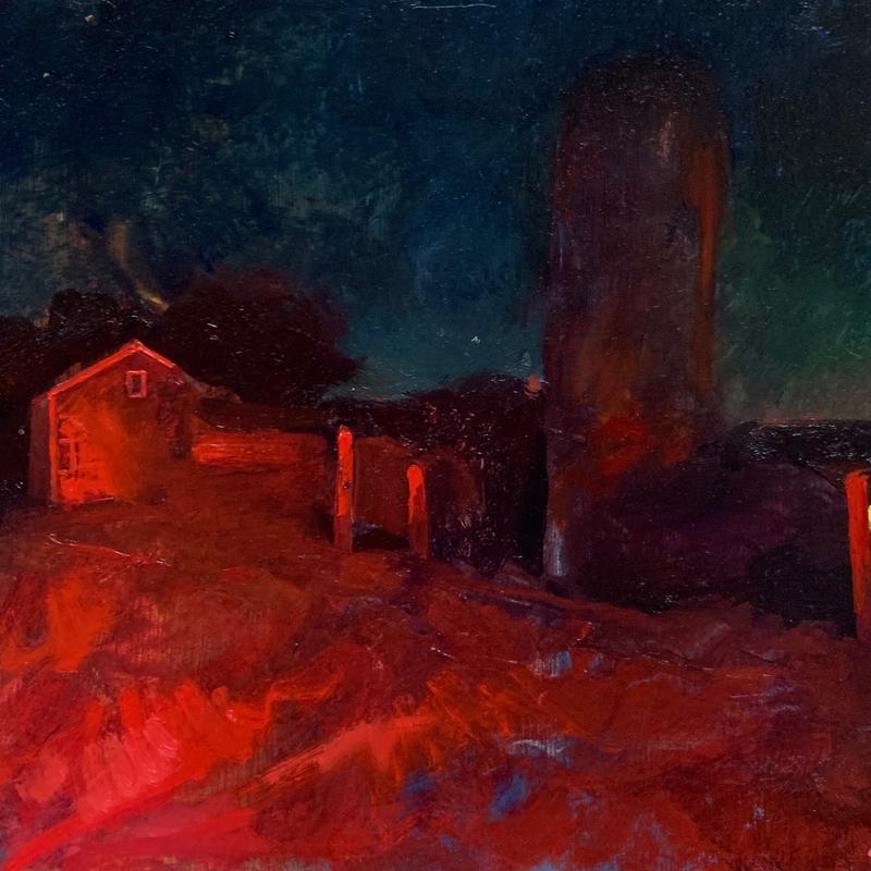 Amish Barn at Night