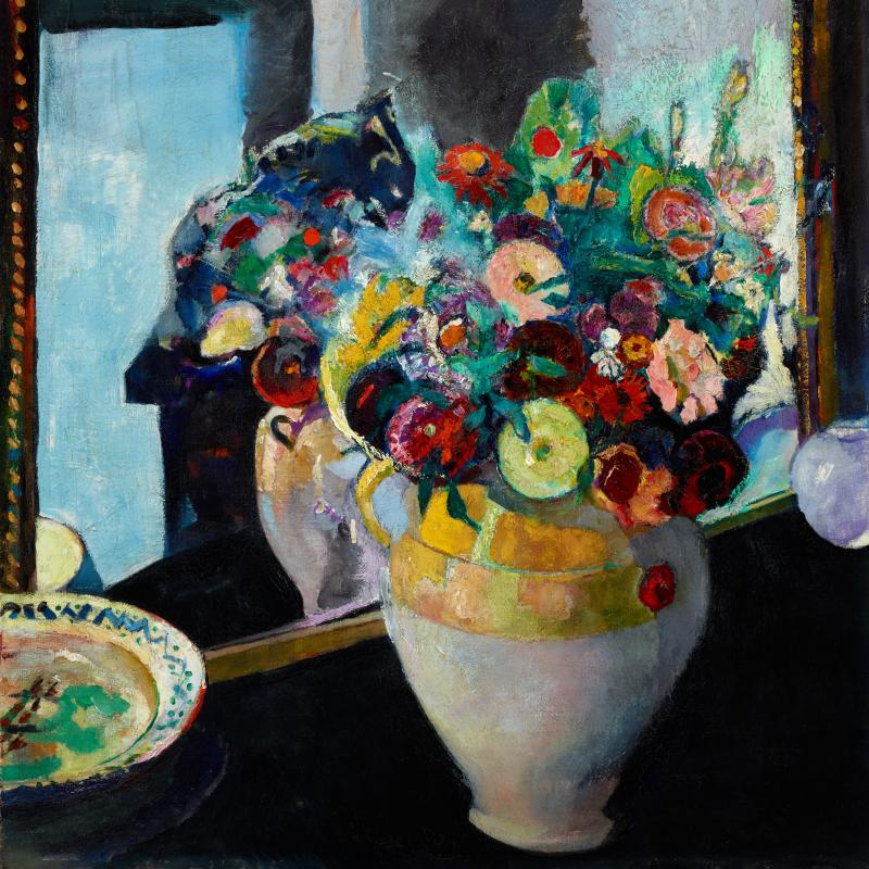 Flowers in a Yellow Vase