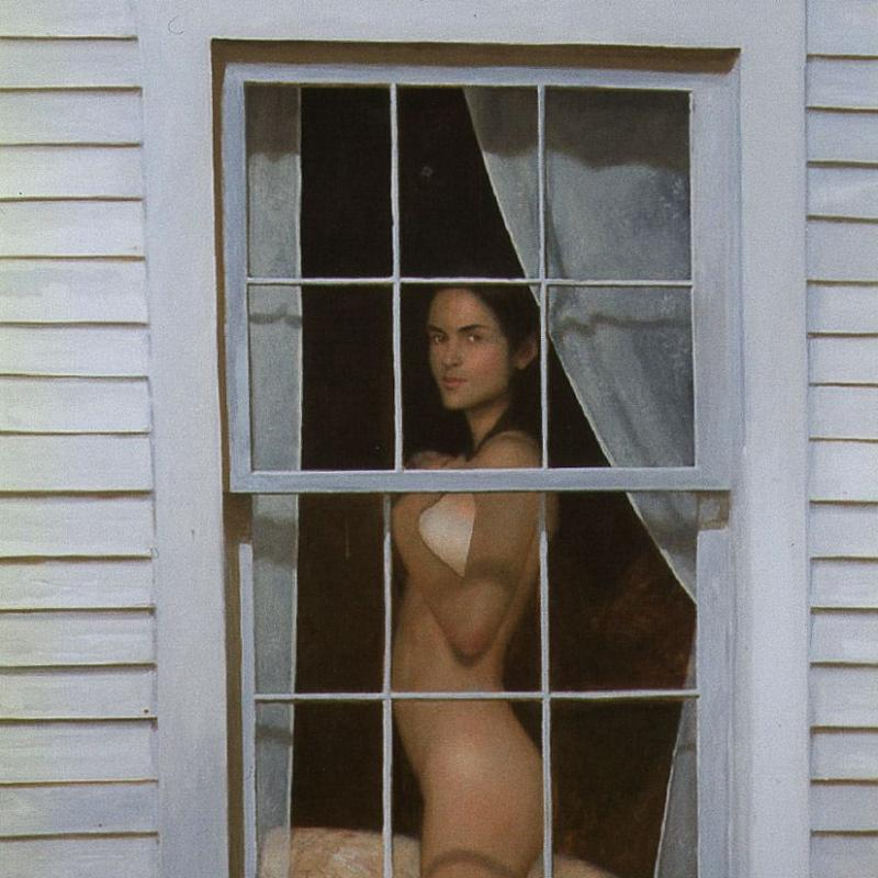 Nude Woman Looking Out of Window