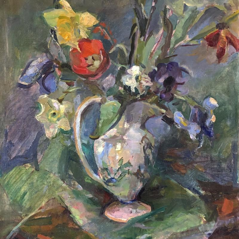 Still Life with Pitcher of Flowers