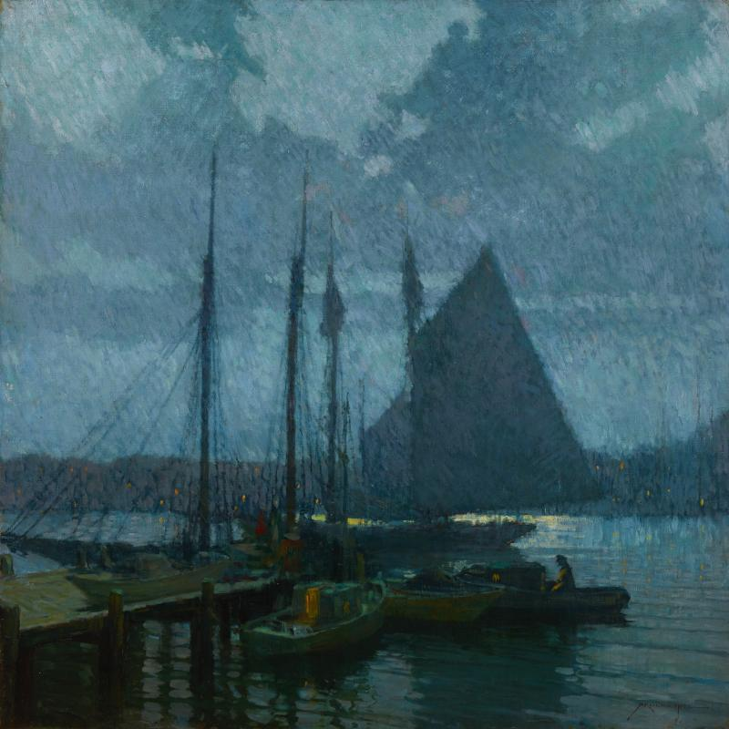 Moonlight, Gloucester Harbor