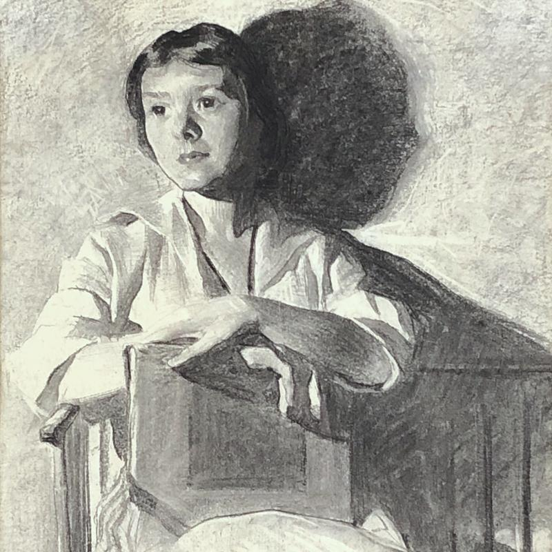 Young Woman Seated with Book