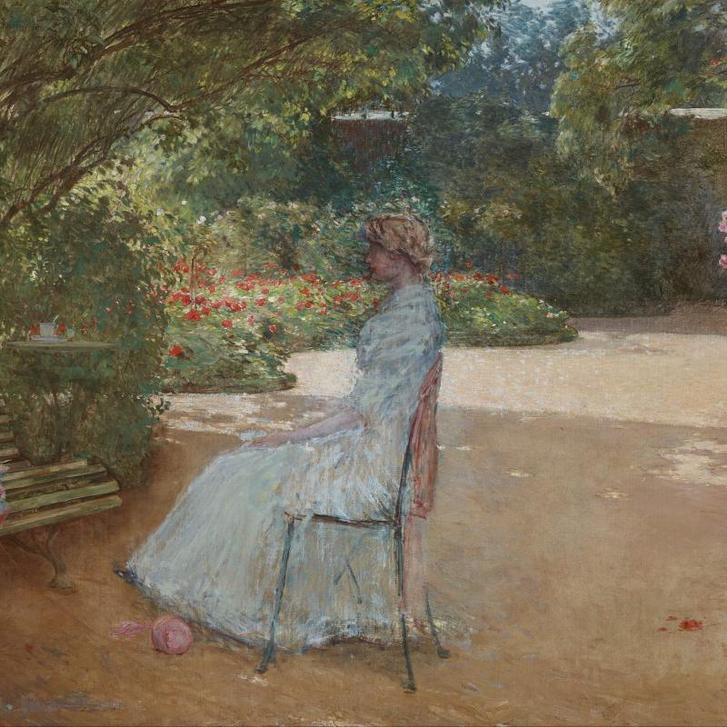 The Artist's Wife in a Garden, Villiers-le-Bel