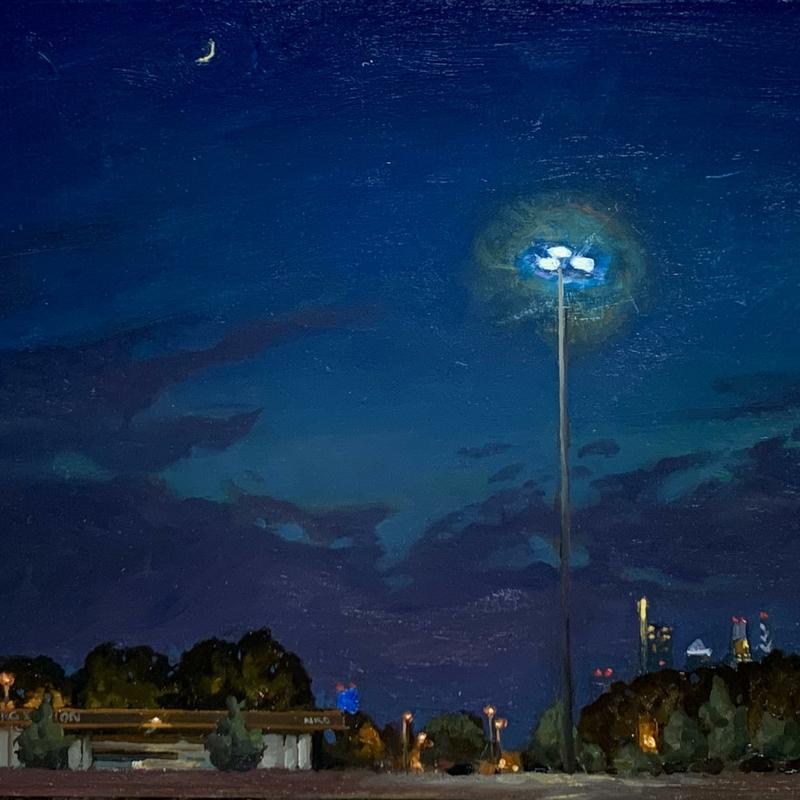 NRG Station at Night