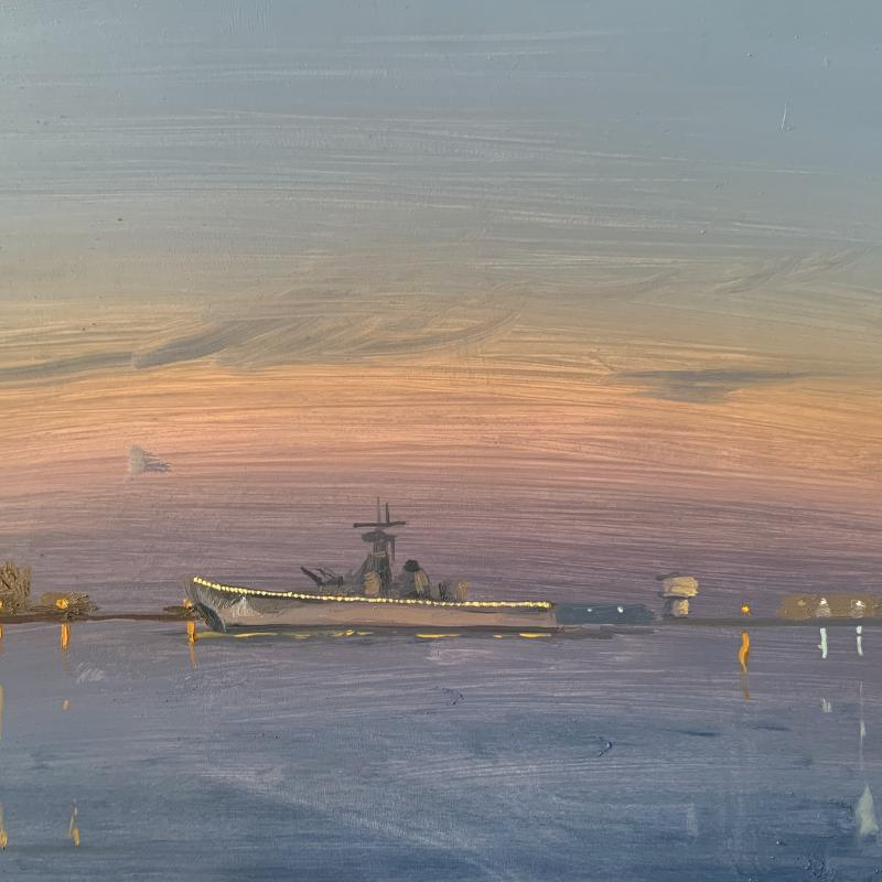 USS New Jersey in the Early Evening