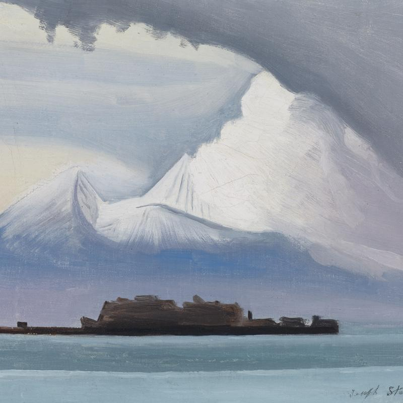 Modernist Depiction of Vesuvius
