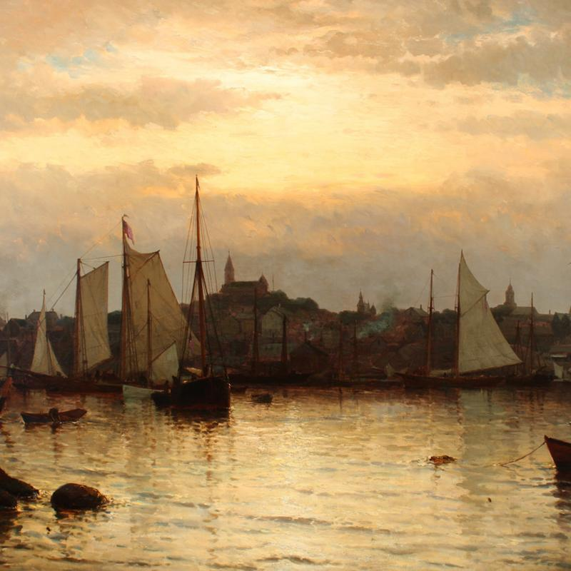 Gloucester Harbor in Evening Light