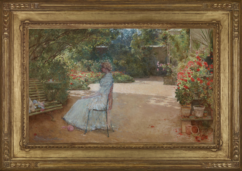 The Artist's Wife in a Garden, Villiers-le-Bel