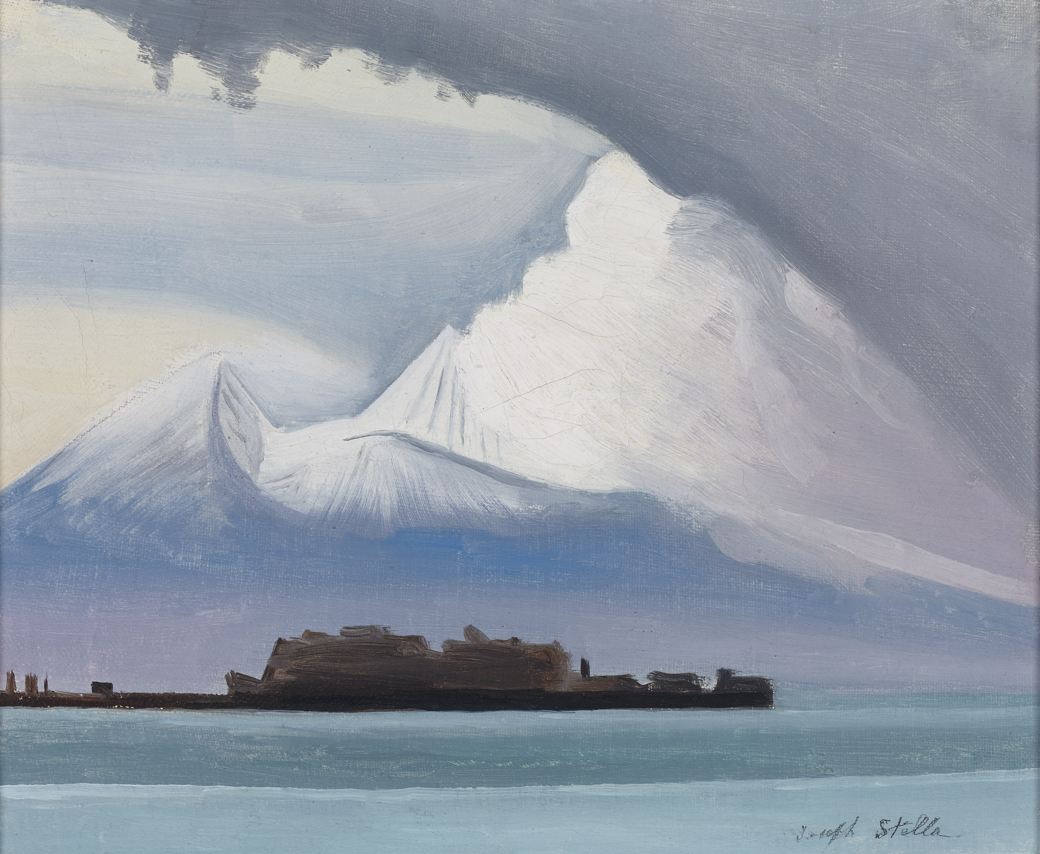 Modernist Depiction of Vesuvius